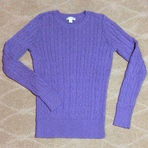 St. John's Bay Women's Crewneck Cable Sweater, S
